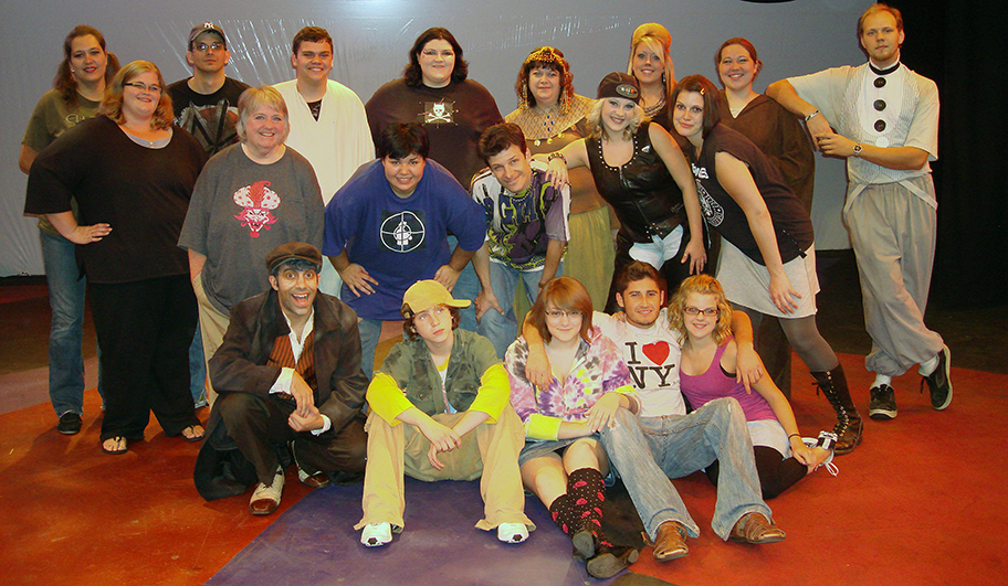 CAST PICTURE: THE CAST — BACK ROW: Christine Fowler, Kurt Cullison, Thomas Young, Jenna Cintavey, Pamela Young Beish, Haley Jane Otto, Christiana Ozimek , Daniel Parsons; MIDDLE ROW: Tiffany Mulloy, Rhianna Squires, Joe Toto, Kate Starling, Dorothy Voyda; FRONT ROW: Cleric Ricard Costes, Curtis Showers, Victoria Van Horn, João Ciuba, Kayla Donaldson